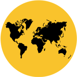 Resettlement Resources - world map icon for global resettlement resources