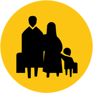 Resettlement Resources for Resettlement & Integration - icon of a family