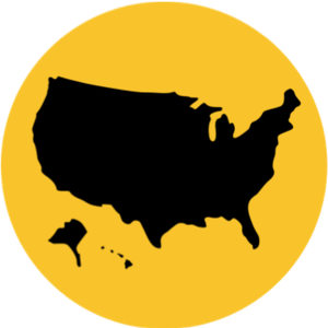 Resettlement Resources - USA map icon for U.S. resettlement resources